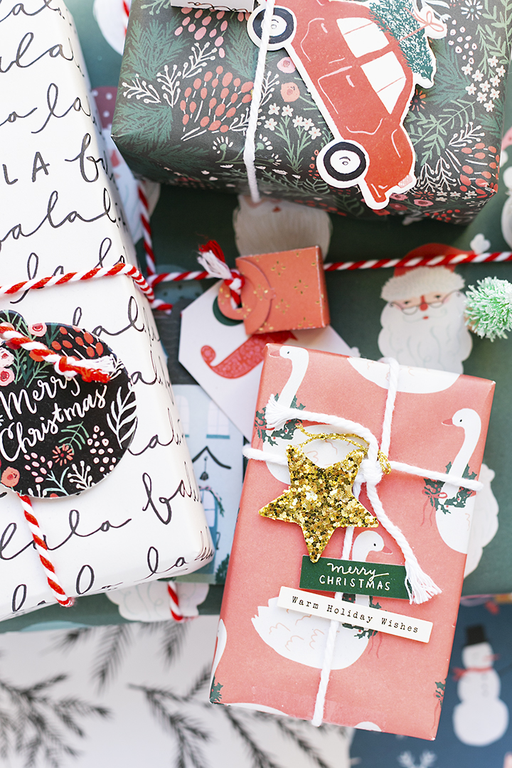 CRATE PAPER | Christmas Gifts with Merry Days Gift Wrap Kit present b