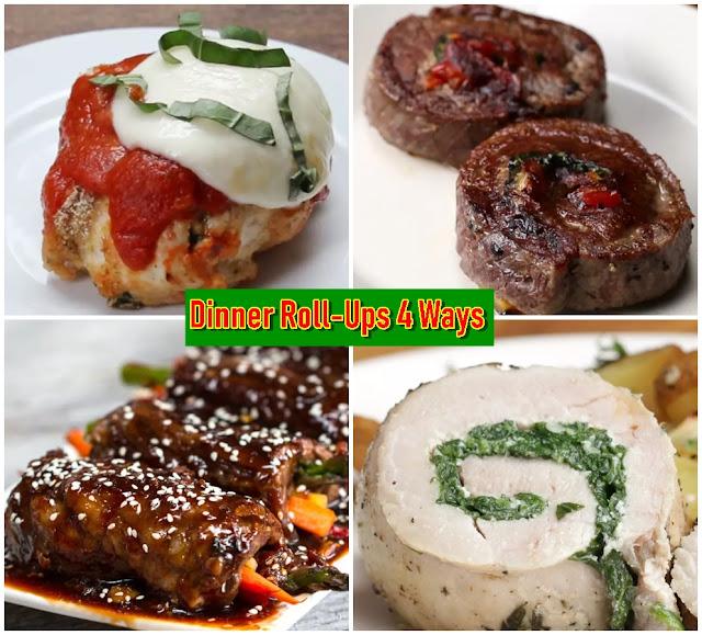 Dinner Roll-Ups 4 Ways