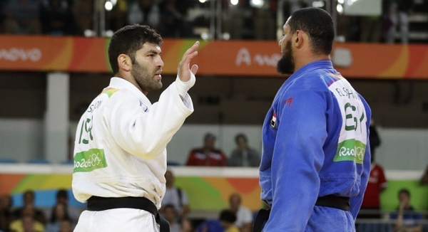 هزيمة إسلام الشهابى أمام اللاعب الإسرائيلى بمنافسات الجودو فى الأولمبياد بريو 2016