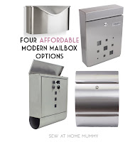 Four Affordable Stainless Steel Mid Century Modern Inspired Mailbox Options