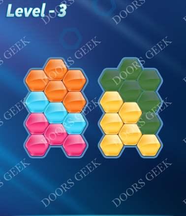 Block! Hexa Puzzle [Intermediate] Level 3 Solution, Cheats, Walkthrough for android, iphone, ipad, ipod