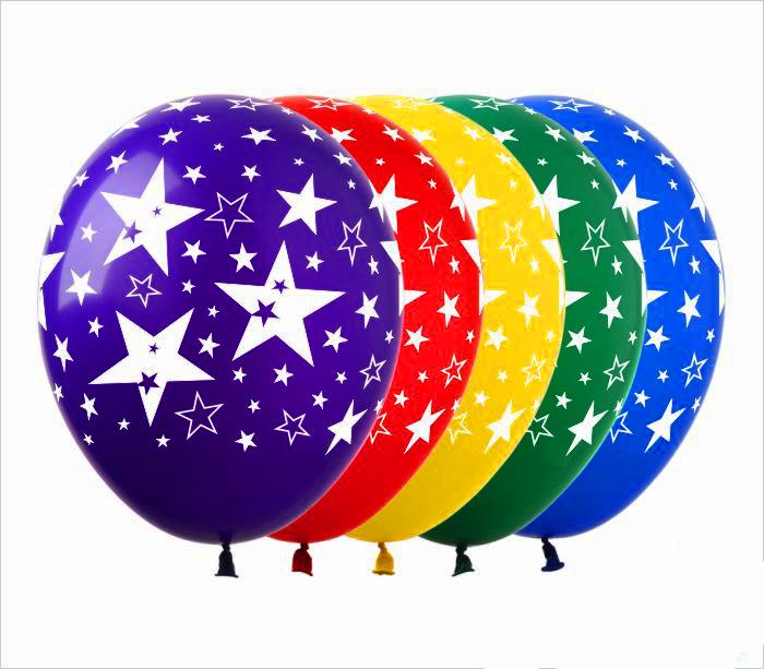 Воздушные шарики в звезды