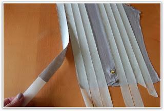 truco para cortar tiras al bies con cinta de carrocero