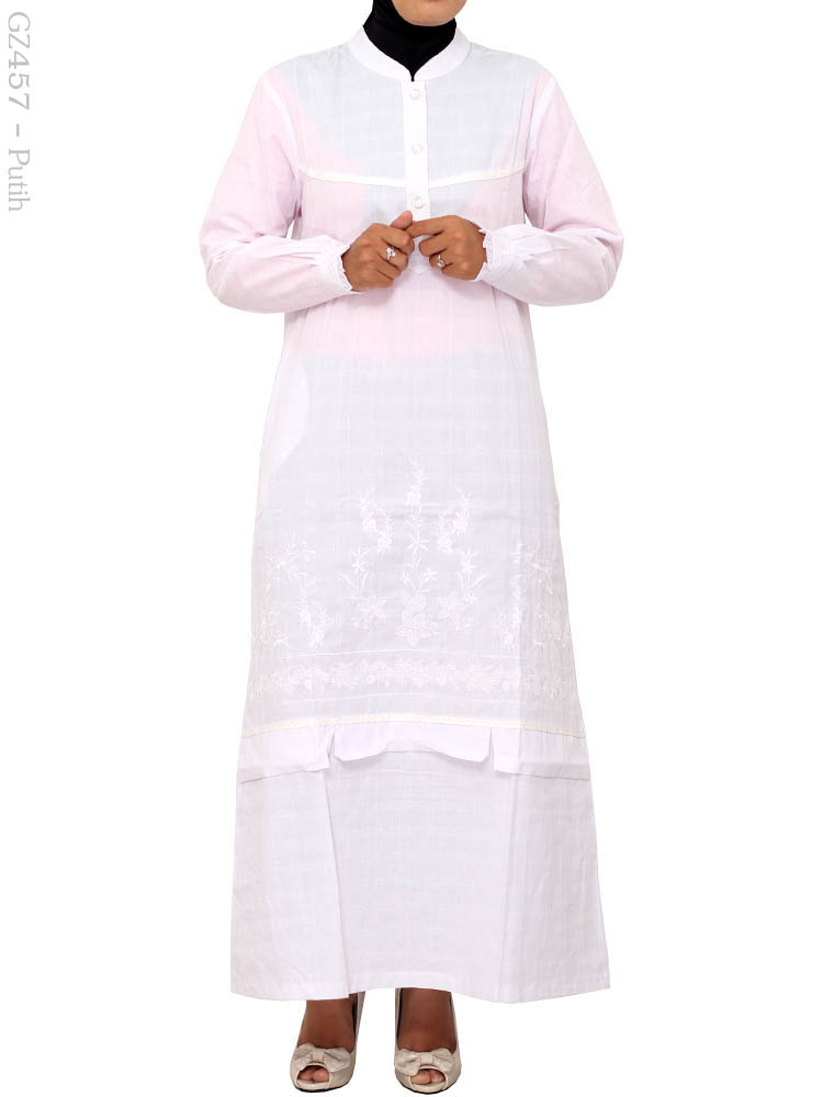 Model Gamis Putih Cantik Elegan Murah