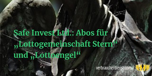 """Titel: Safe Invest Ltd.: Abos für """"Lottogemeinschaft Stern"""" und """"Lottoengel"""""""