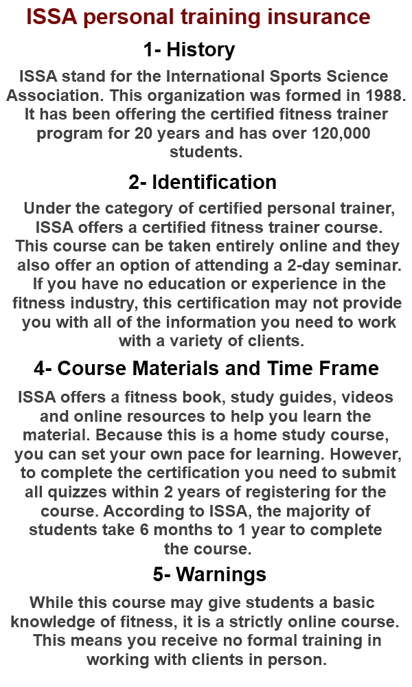 Personal Training Issa Personal Training Certification