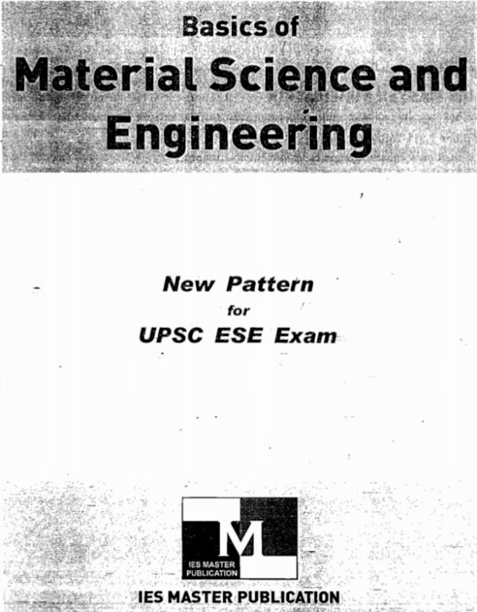 Download Basic of Material Science And Engineering [IES MASTER] Book Pdf
