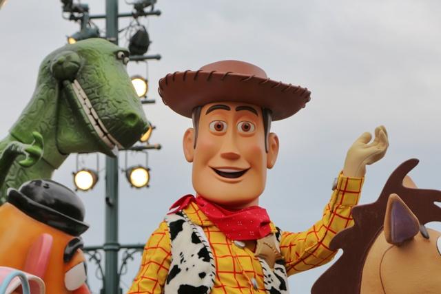 Toy Story en la Cabalgata de Disneyland Paris