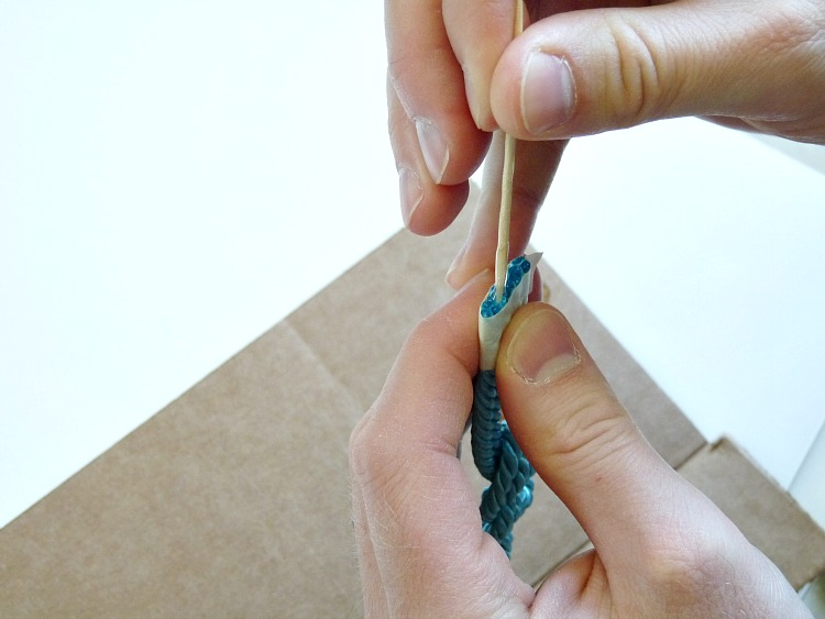 How to finish off a satin cord bracelet