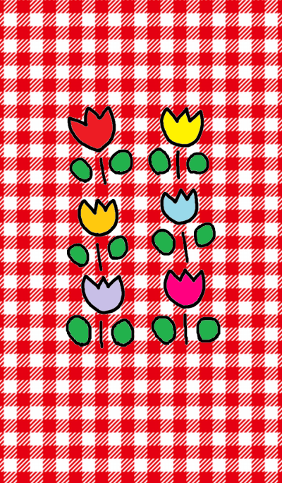 red x tulips theme