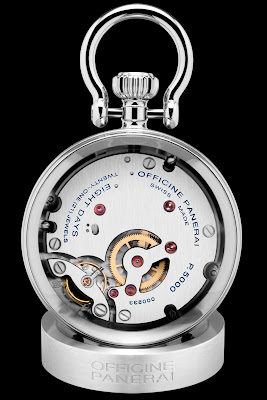 Panerai Table Clock (PAM00641) with sandwich dial with the S.L.C. design
