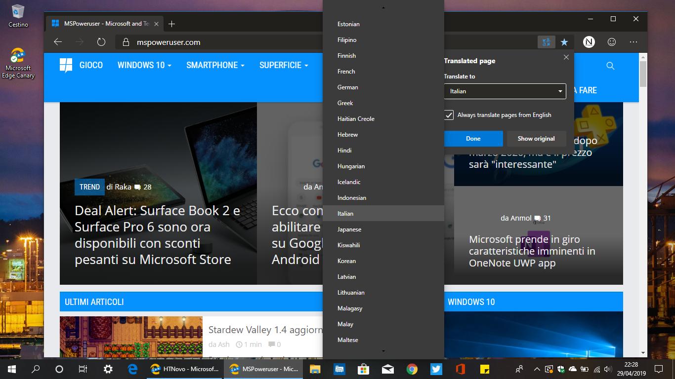 Abilitare-Microsoft-Translator