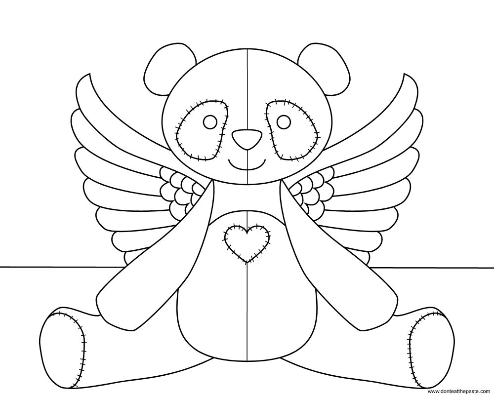 don u0027t eat the paste flying panda coloring page