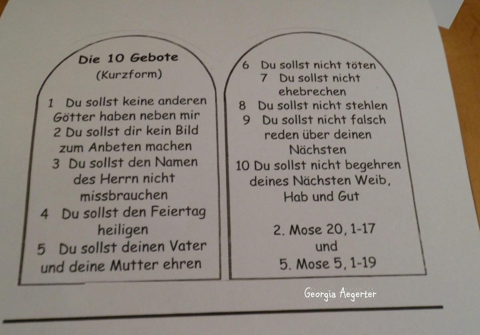 Die 10 Gebote Christentum