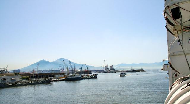 mare, porto, acqua, monti, Vesuvio,navi