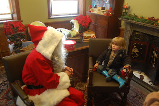 Our toddler meets Father Christmas, Santa Claus and holidays are coming!