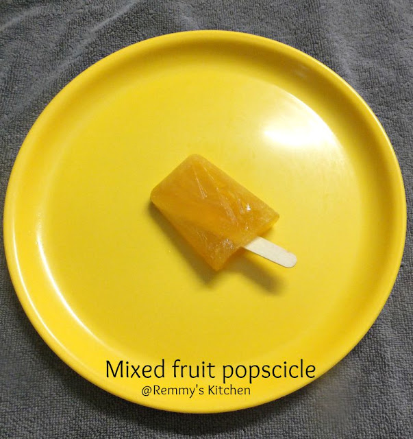 Mixed fruit juice popscicle