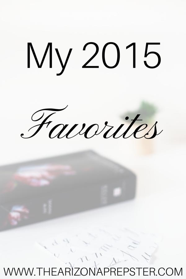 My 2015 Favorites