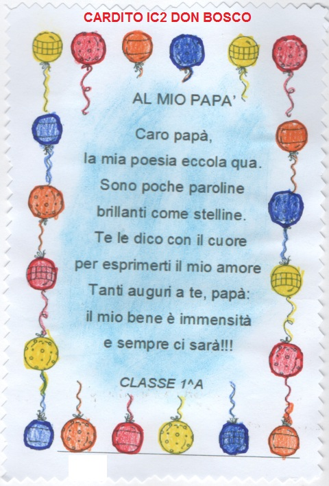POESIA del PAPA' classe 1^A