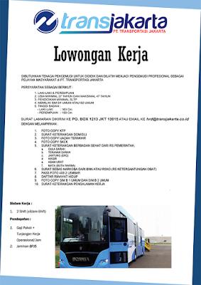 Lowongan Kerja Supir Transjakarta (Busway)