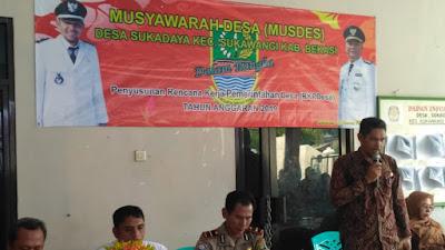 Musyawarah Desa (MUSDES) Desa, Sukadaya Kec, Sukawangi Penyusunan Rencana Kerja Pemerintah Desa (RKPDesa) Tahun Anggaran 2019