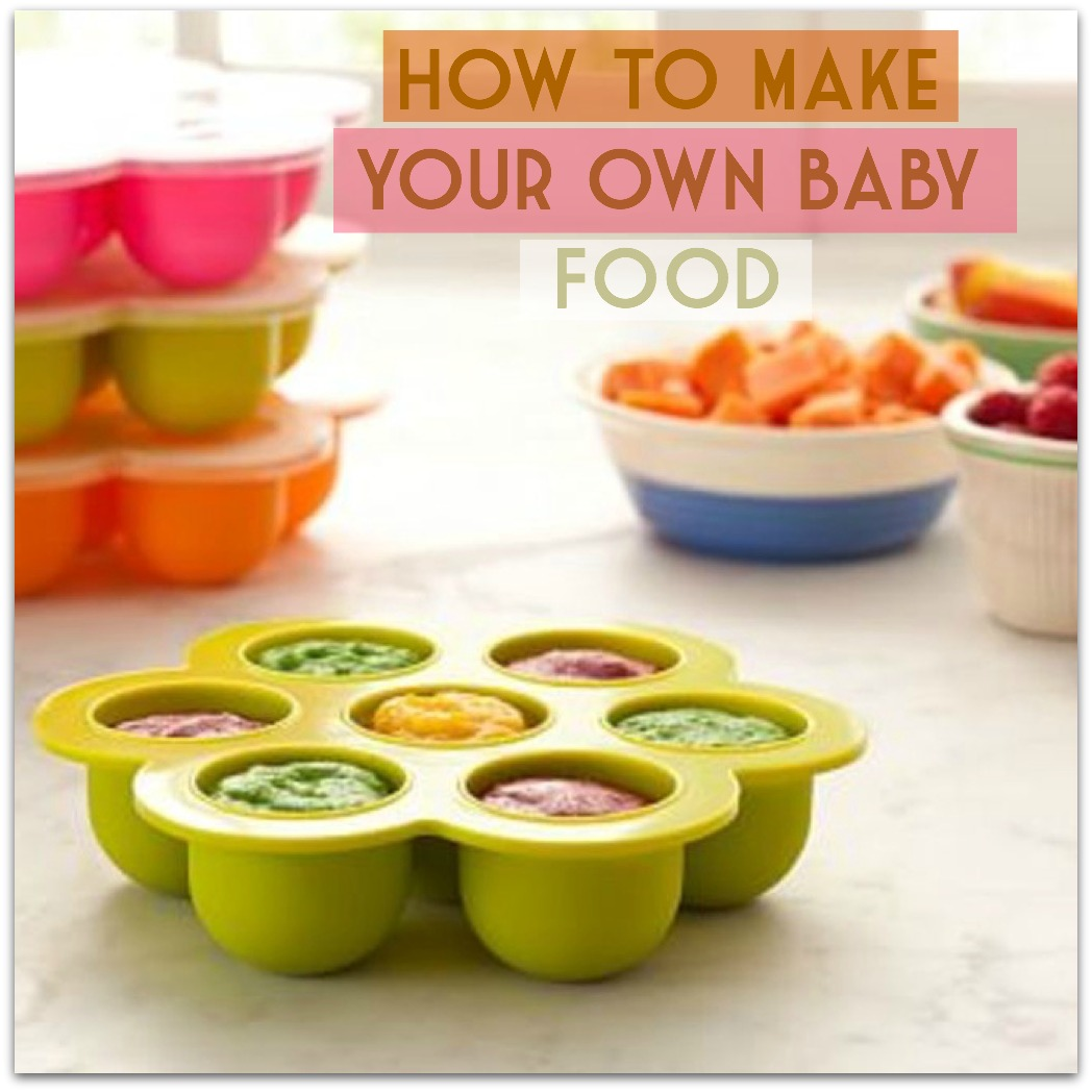 Home Of Malones: How To Make Your Own Baby Food