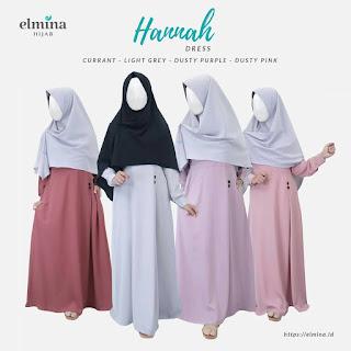Gamis Syari Hannah Dress by Elmina - Gamis Syari Yoris - Gamis Syari Polos - Gamis Syari Elmina