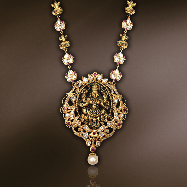 New Temple Jewellery Designs Sudhakar Gold Works