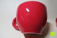 Tasse beschädigt: Porzellan Teekannenservice von Original First Tea (Rot)