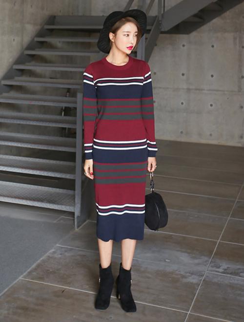 Slim Fit Stripe Dress