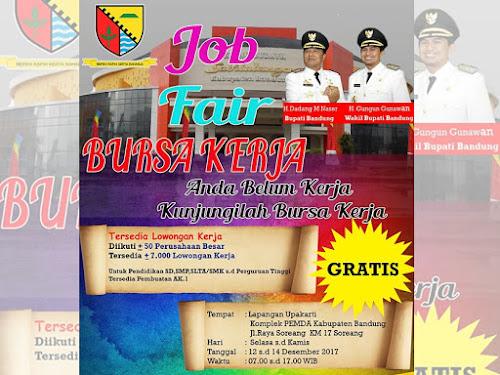 Bursa Kerja Kabupaten Bandung 12-14 Desember 2017