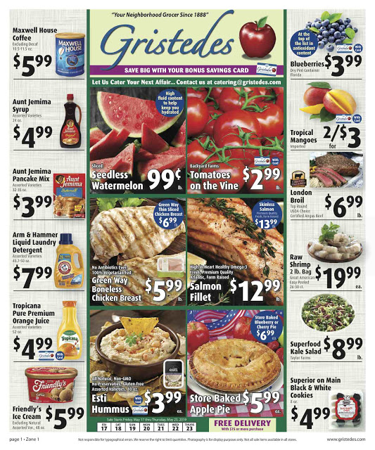 CHECK OUT ROOSEVELT ISLAND GRISTEDES Products, Sales & Specials For May 17 - May 23