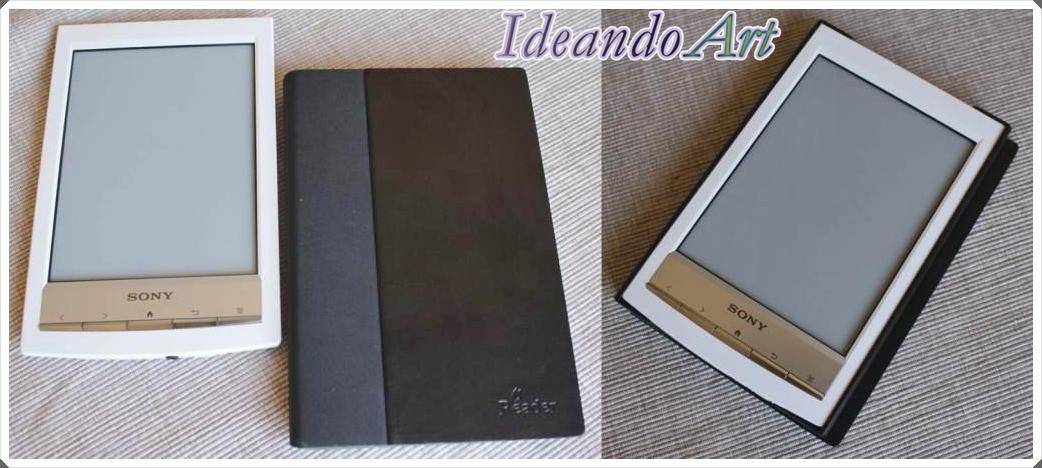 Libro electrónico con funda