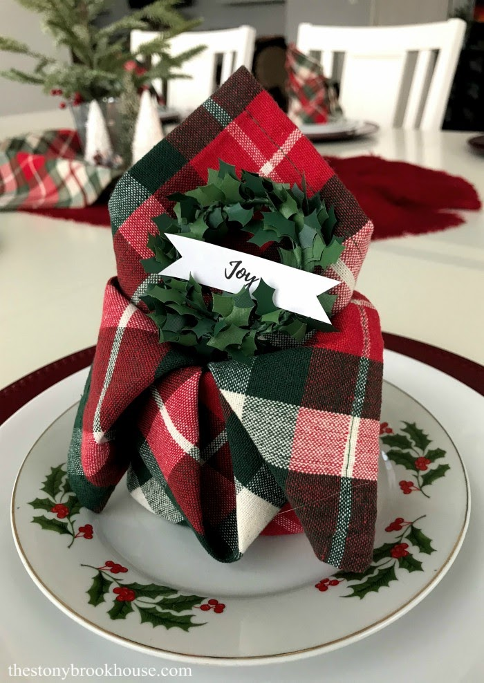 Christmas fancy napkins