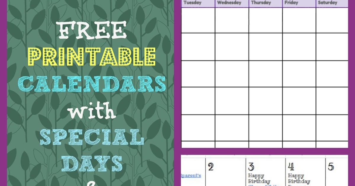free printable monthly calendar with holidays 2017