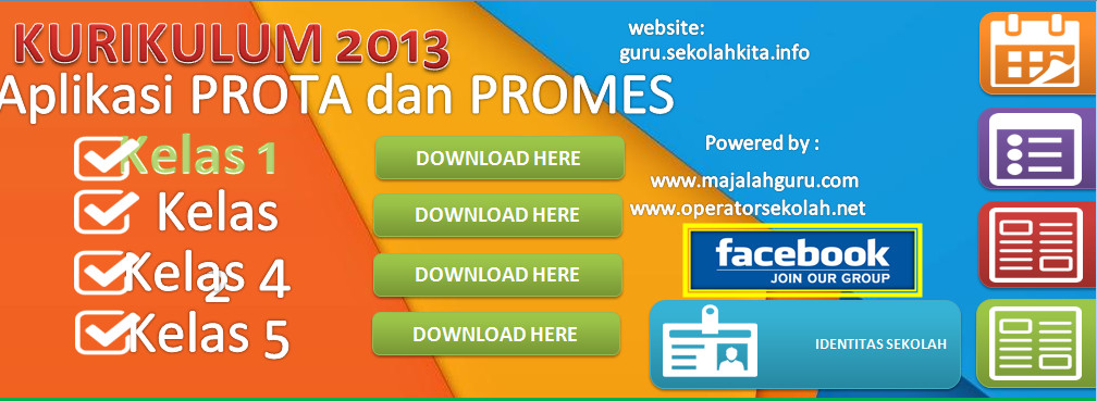 Download Aplikasi Prota Promes Kelas 1 Berbasis Ms. Excel Terbaru (New Update)