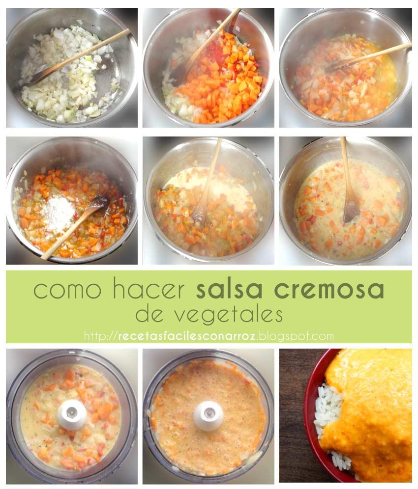 salsa cremosa vegetariana fototutorial