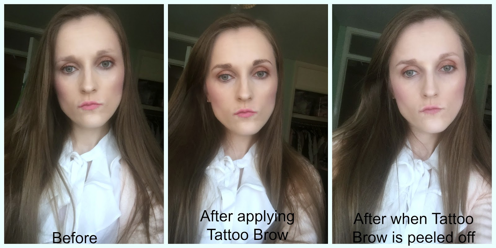 before and after maybelline tattoo brow