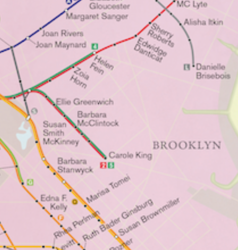 Rebecca Solnit Women Subway Map.Map Of The Week City Of Women