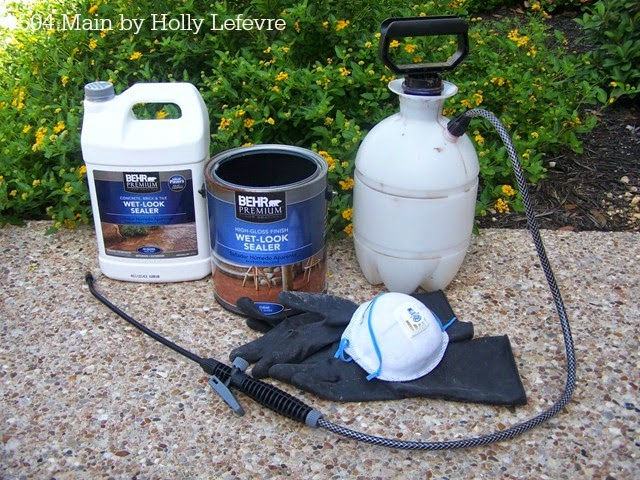 Main By Holly Lefevre How To Stain Or Dye Concrete Floors The - Behr premium wet look sealer reviews