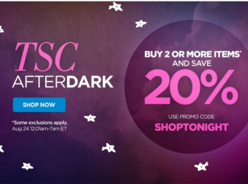 The Shopping Channel After Dark 20% Off Promo Code