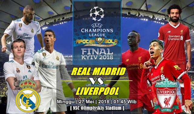 Prediksi Real Madrid vs Liverpool 27 Mei 2018