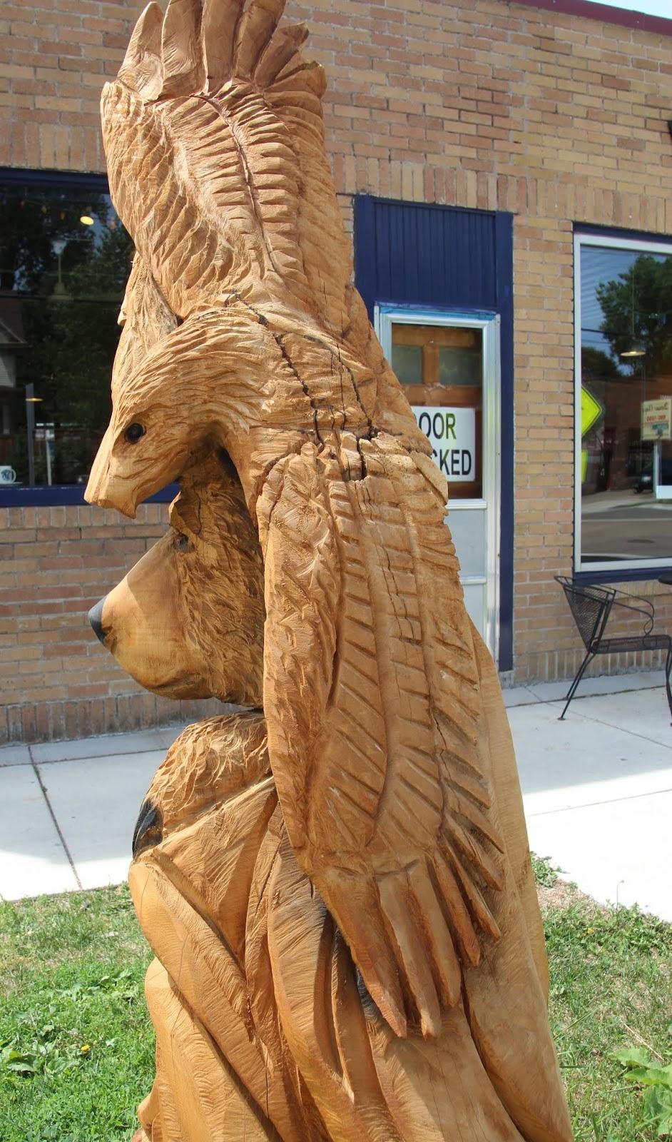 Visual saint paul: a wood carving
