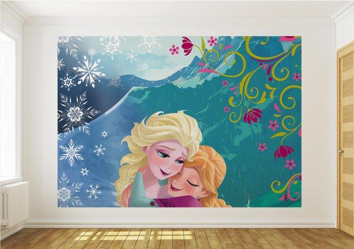 gambar desain wallpaper kamar tidur anak frozen free