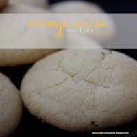 Orange and anise flavour in each bite of these melt in your mouth cookies.