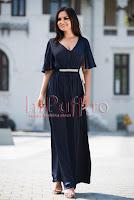 Rochie lunga eleganta bleumarin • Ade