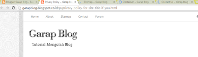 cara-menempatkan-privacy-policy-sitemap-disclaimer-contsct-us-dibawah-blog