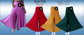 Model celana kulot polos dengan ukuran jumbo