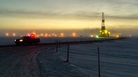 An oil drilling rig near Prudhoe Bay, Alaska.  (Credit: jweston_40/flickr)  Click to Enlarge.An oil drilling rig near Prudhoe Bay, Alaska.  (Credit: jweston_40/flickr)  Click to Enlarge.