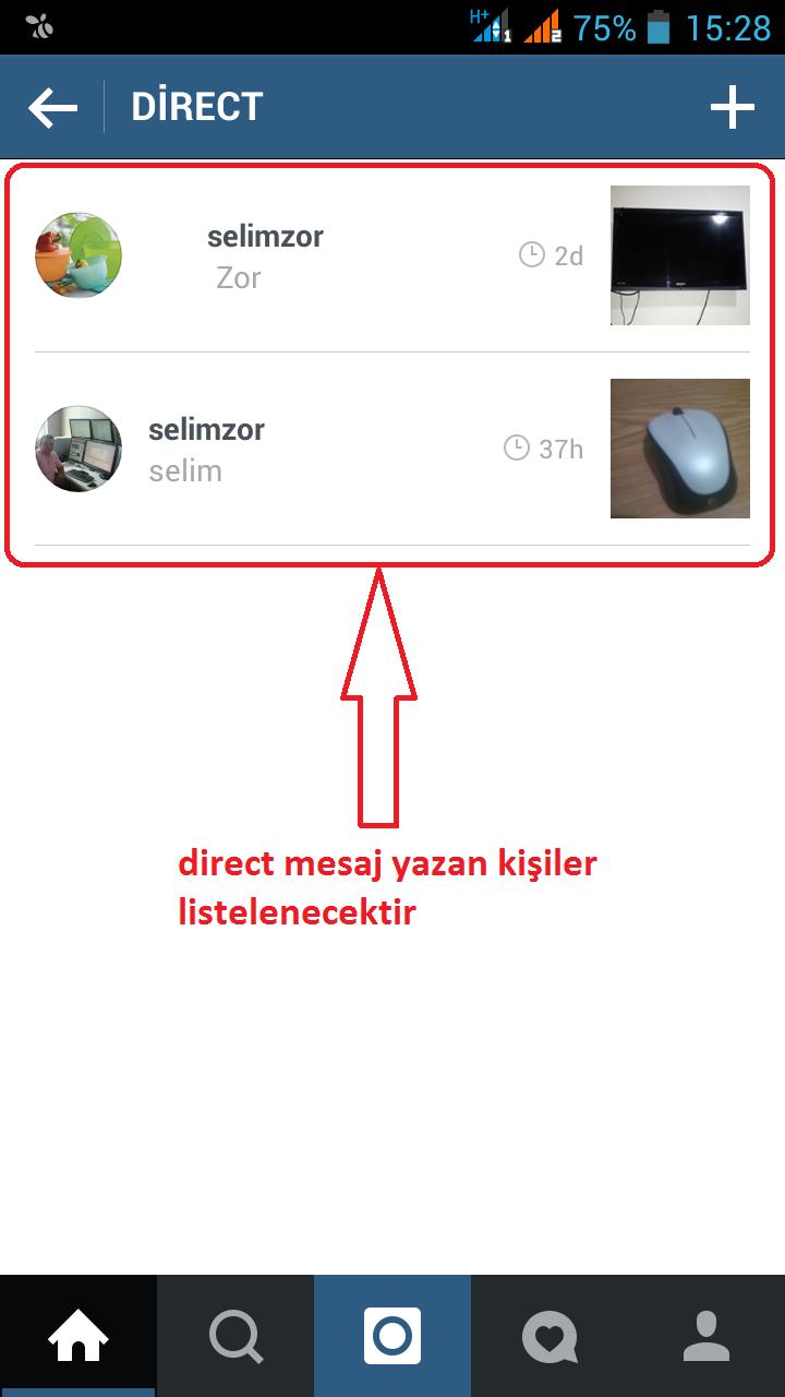 Instagramda seni takip etmeyene mesaj atma